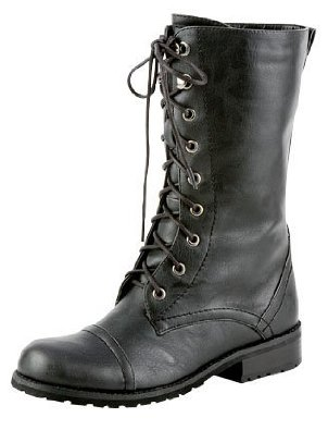 Amazon.com: lug 11 womens military lace up combat boot black: shoes