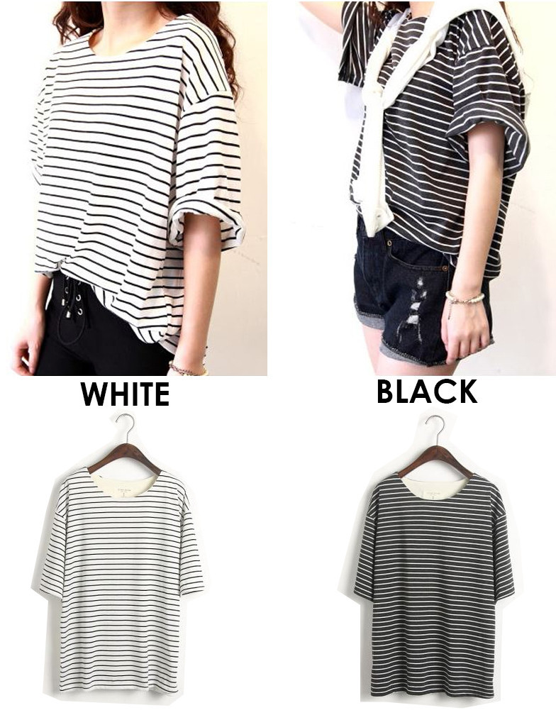 Oversized Stripe Tee | Outfit Made