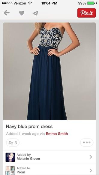 dress navy perfect this dress prom dress