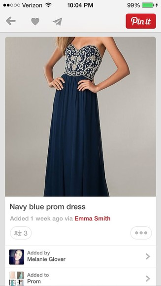 dress prom dress navy blue perfect this dress
