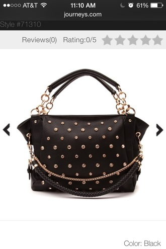 bag chained purse black studded bag studded leather purse leather bag