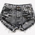 Alyssa Vintage Acid Wash Studded Shorts | RUNWAYDREAMZ