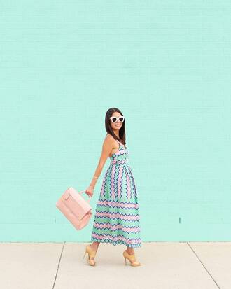 dress tumblr printed dress midi dress summer dress summer outfits bag pink bag sandals sandal heels high heel sandals shoes