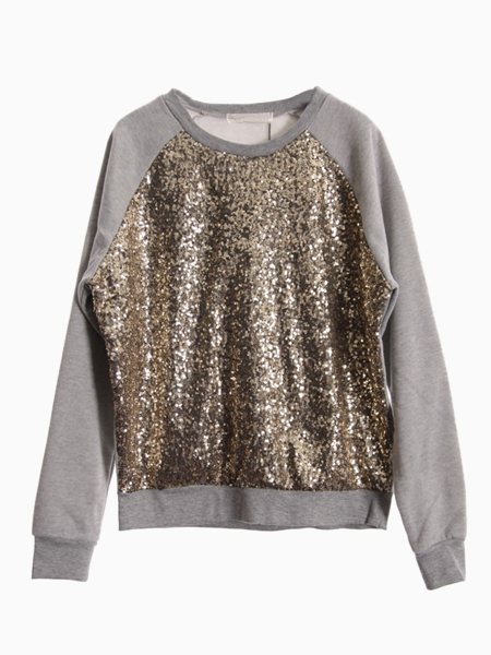 Sweatshirt With Sequin Front | Choies