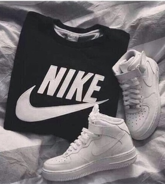 sweater nike nike jumper nike sweater black black jumper hipster fashion jumper cool nikejumper nike air