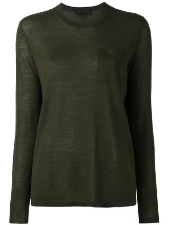 jumper women silk green sweater