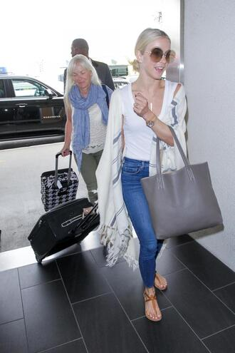 jeans sandals top julianne hough streetstyle shoes