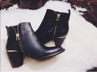 shoes ankle boots black shoes black boots black leather boots zip ankle boots black ankle boots