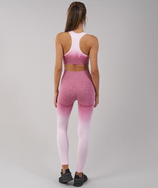 3e5f8fc14b71d Gymshark Ombre Seamless Leggings - Chalk Pink/Beet