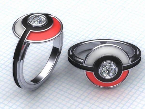 jewels pokemon ring pokeball jewelry