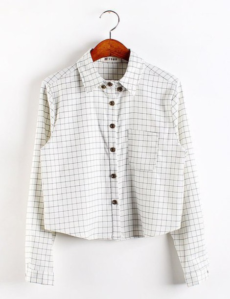 shirt white plaid shirt