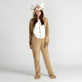 pajamas holiday gift deer onesie