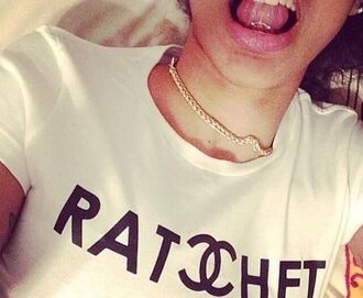 shirt chanel t-shirt ratchet