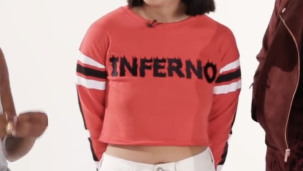 shirt red cropped