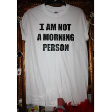 25% OFF MORNING PERSON Logo T-SHIRT BLACK WHITE RITA ORA TOWIE Sam Faiers Lucy Meck Christmas Party NYE Rokii Portsmouth UK