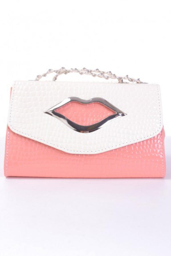 bag handbag clutch purse funny lips