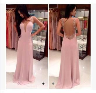 dress pink sparkle prom pretty
