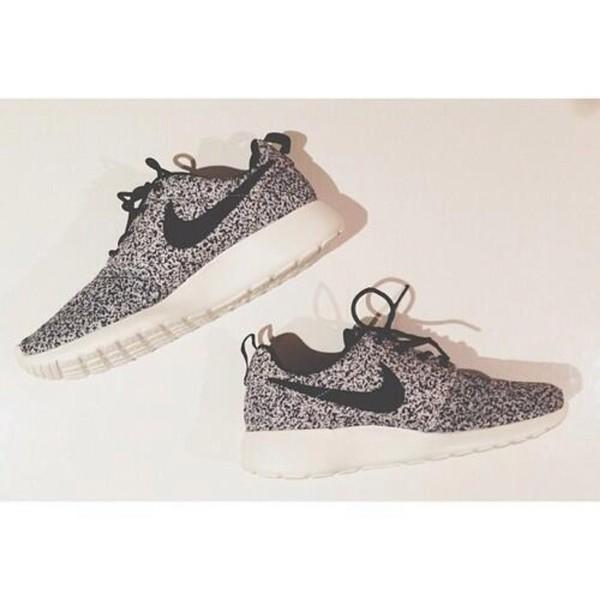 shoes nike roshe runs nike sneakers leopard print