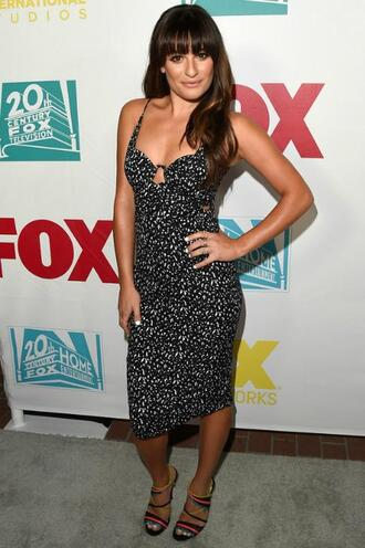 dress bodycon dress lea michele midi dress summer dress sandals shoes