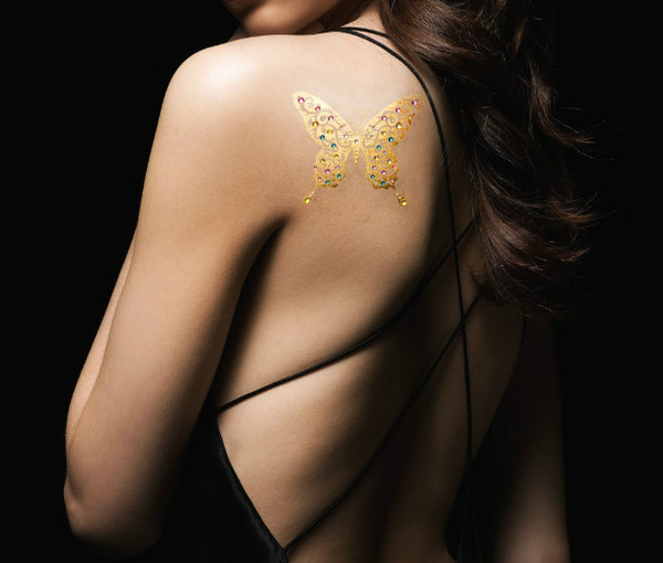 jewels gold tattoo