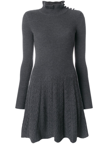 dress women wool grey