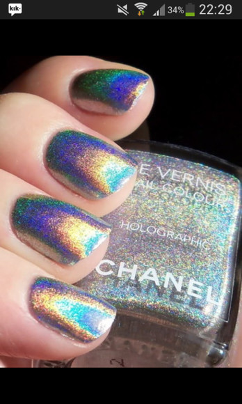 chanel nail polish holographic