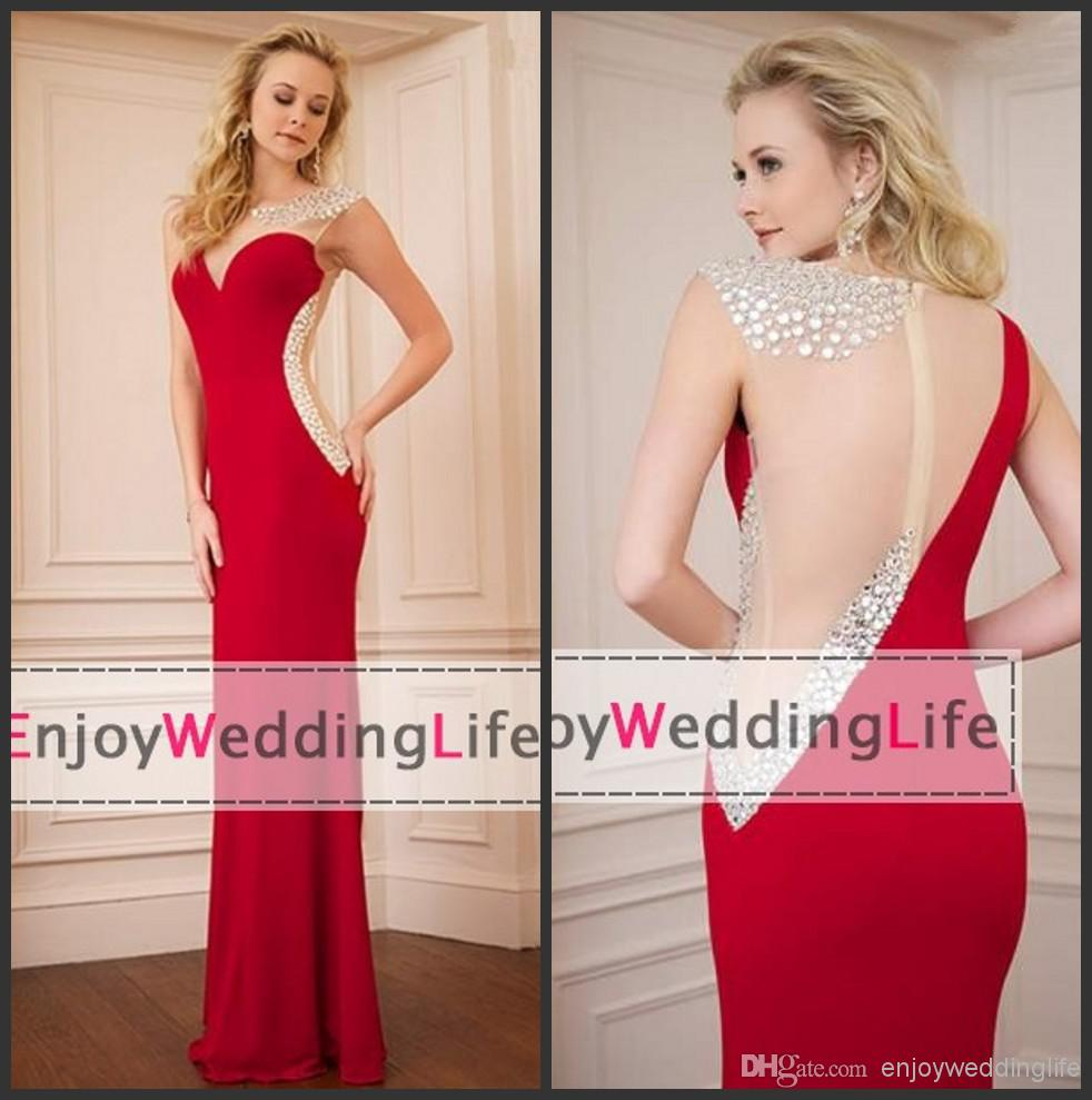 Cheap Red Jersey - Discount Sexy New Sleeveless Red Jersey Mermaid Evening Dresses Online with $115.92/Piece | DHgate