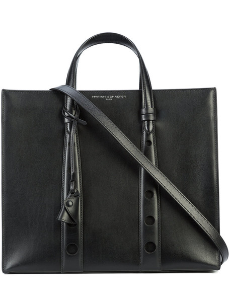 Myriam Schaefer - classic tote bag - women - Leather - One Size, Black, Leather