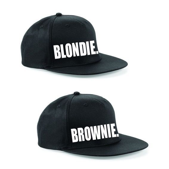 b00dbda38 BLONDIE BROWNIE Snapback Pair Fashion PRINTED Snapback Caps Hip-Hop Hats  RAPPER