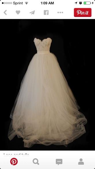 dress wedding dress tulle wedding dress lace wedding dresses white