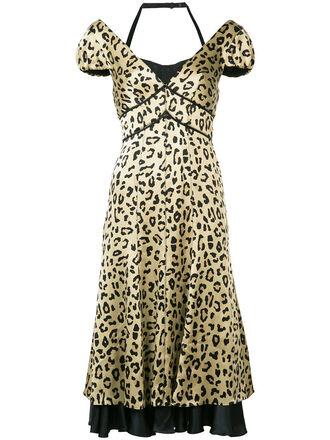 dress print dress leopard print dress women nude print silk leopard print