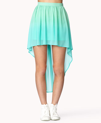 Low ombré skirt