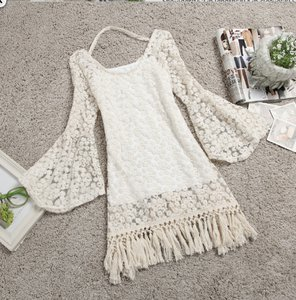 Nice tessel lace the horn sleeve dress / fanewant