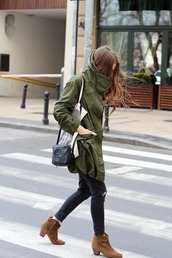 fashion and style,blogger,gucci bag,army green jacket,ankle boots,black ripped jeans