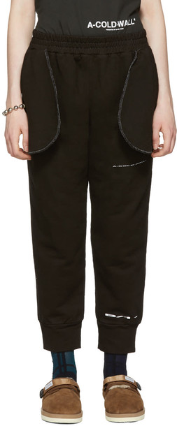 A-cold-wall* Black Compressed Logo Lounge Pants