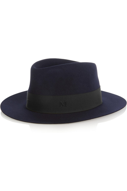 Maison Michel fedora blue hat