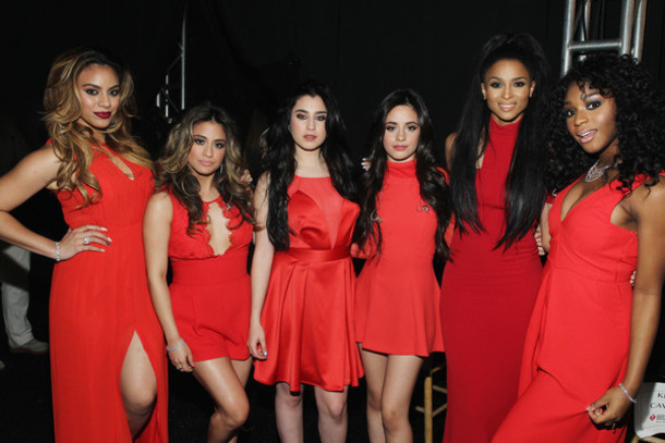 dress fashion week 2015 Fifth Harmony red red dress ciara