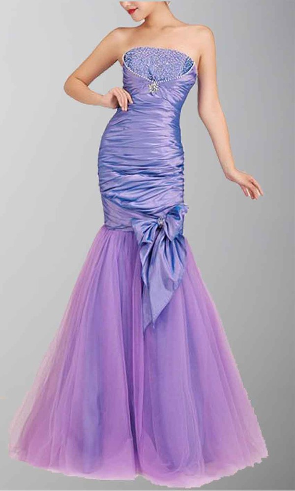 long prom dress long formal dress purple dress strapless prom dress mermaid prom dress fishtail dress beading prom dress lace up dress