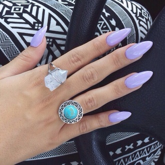 jewels nail polish pants ring rock sliver lavender purple help precious stone blue white gemstone ring crytals globe rings and tings crystal