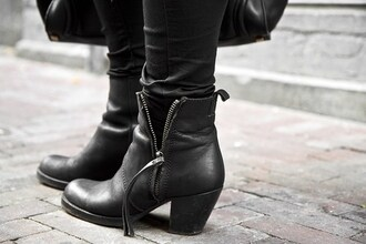 shoes ankle boots zip ankle boots boots black boots leather boots black leather boots acne studios
