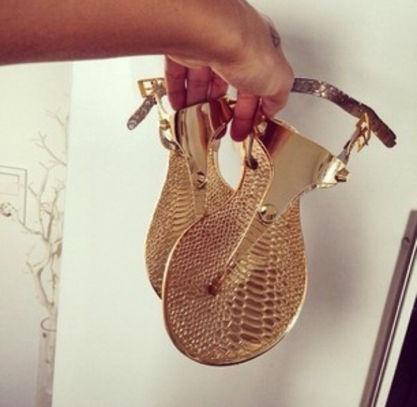 shoes gold sandals bag sandals gold