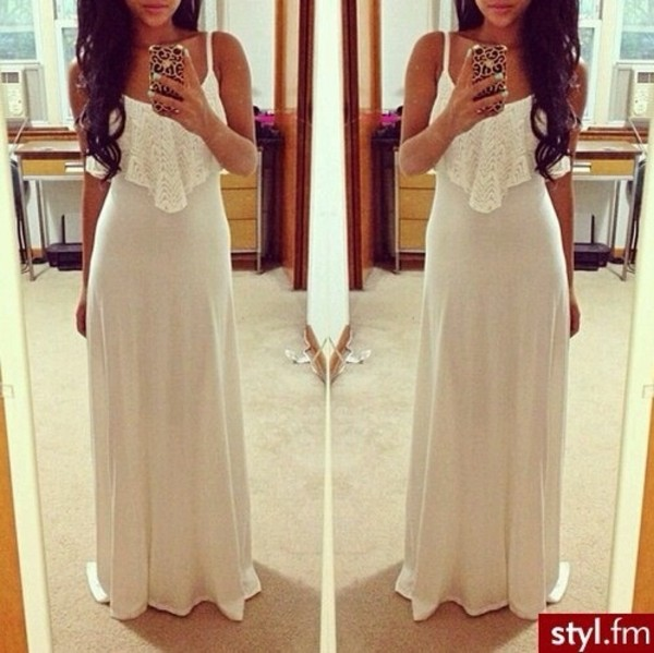 dress beautiful dress summer nice nice combination withe summer dress summer outfits pure lovers white dress maxi dress long dress