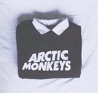 sweater artic monkeys music indie rock shirt black white