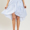 Karen blue striped ruffle wrap skirt - morning lavender