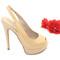Beige sling back high heels