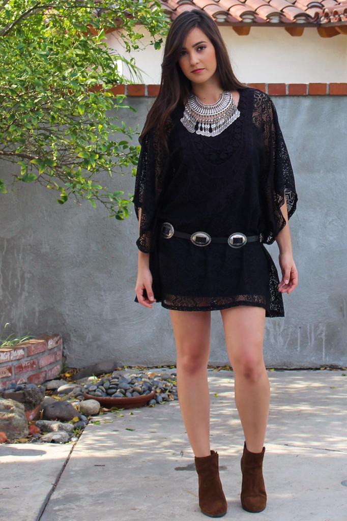 Gypsy siren crochet lace dress