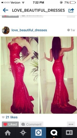 dress red dress red sequins sequin dress red sequin long dress prom dress prom red prom dress red prom dress red maxi dress maxi dress bustier dress strapless