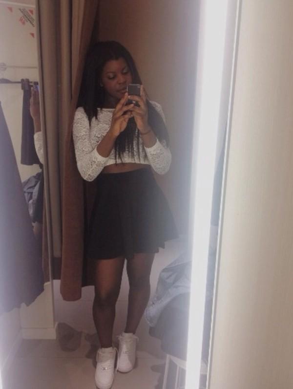 shirt sweet pretty high waist skirts skirt t-shirt