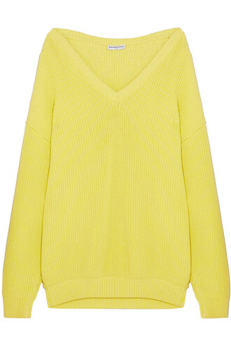 sweater oversized cotton yellow
