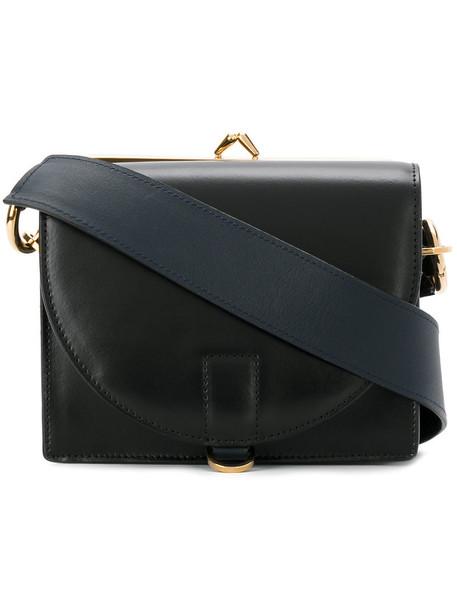 Sacai mini women bag purse shoulder bag leather black
